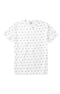 Camiseta malwee Slim em malha com estampa de abacaxi