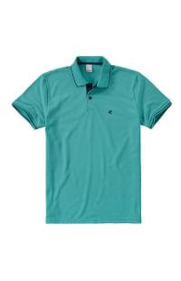 Camiseta polo piquê em azul moda masculina Malwee