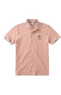 Camiseta polo piquê em rosa moda masculina Malwee