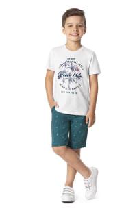 Conjunto menino malwee infantil camiseta e bermuda