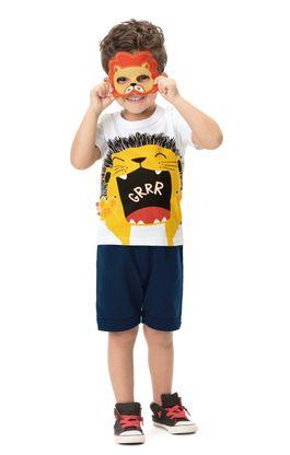 Conjunto com máscara menino Zig Zig Zaa
