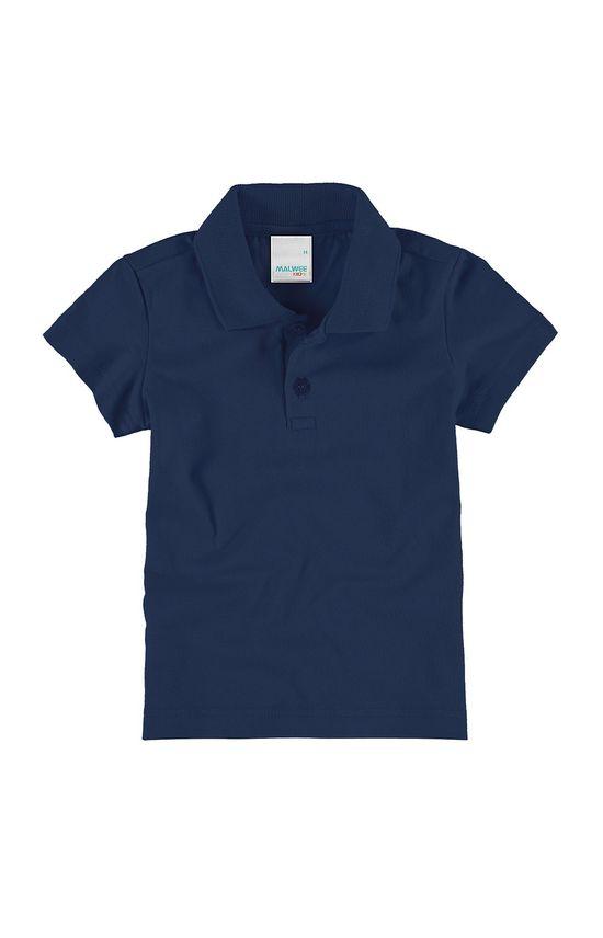 Blusa Polo Sustentável Menina Malwee Kids Azul - 8