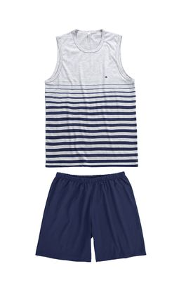 Pijama-Curto-Listras-Masculino-Malwee-Liberta