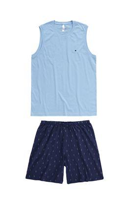 Pijama-Curto-Masculino-Com-Bordado-Malwee-Liberta