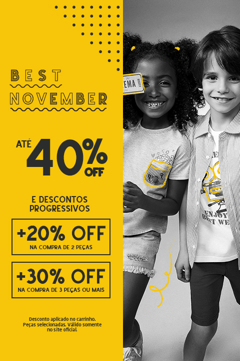 Best November Desconto Progressivo Kids