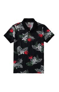 Camisa polo floral da malwee moda masculina